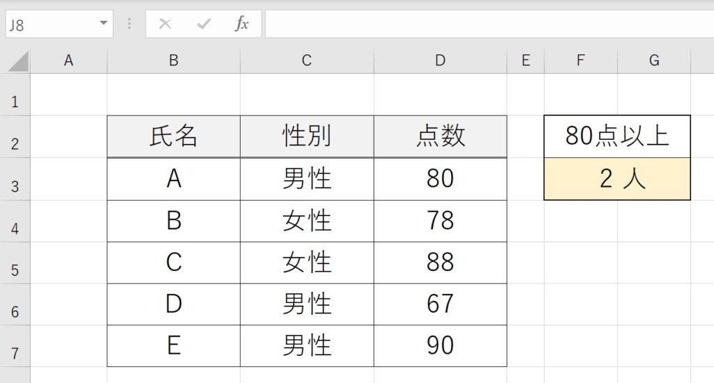 COUNTIF関数の使い方-4